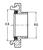 Adapter with male thread Diagram