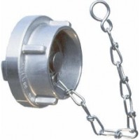 Storz Size 65 Blank Cap with Chain - Aluminium